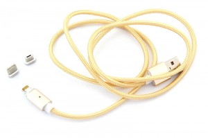 Magnetyczny kabel 3w1 microUSB typ-C iPhone lightning