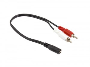 Kabel adapter mini jack 2x RCA audio