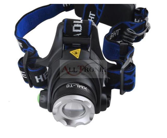 1ce5de26cccf Latarka czołowa LED CREE akumulatory i ładowarki 230V 12V Alltronix